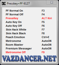 Cheat Presskey Pro + Hack PF AyoDance V6127 HHK
