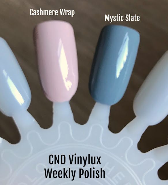 CND Vinylux Weekly Polish Mystic Slate & Cashmere Wrap swatch