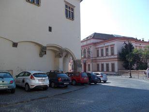 Sibiu - privind spre Liceul de Muzică și Arte Plastice,  astăzi