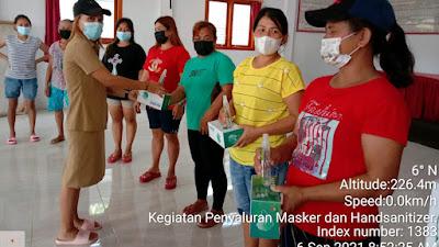 Pemdes Moreah Manfaatkan Sebagian Dandes Beli Masker dan Hand Sanitizer Untuk Masyarakat