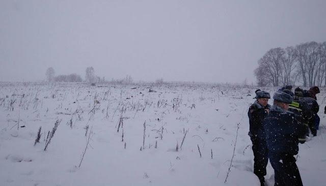 Крушение Ан-148 в Домодедово. Главная информация с места события