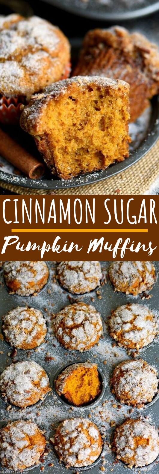 Cinnamon Sugar Pumpkin Muffins #desserts #muffins