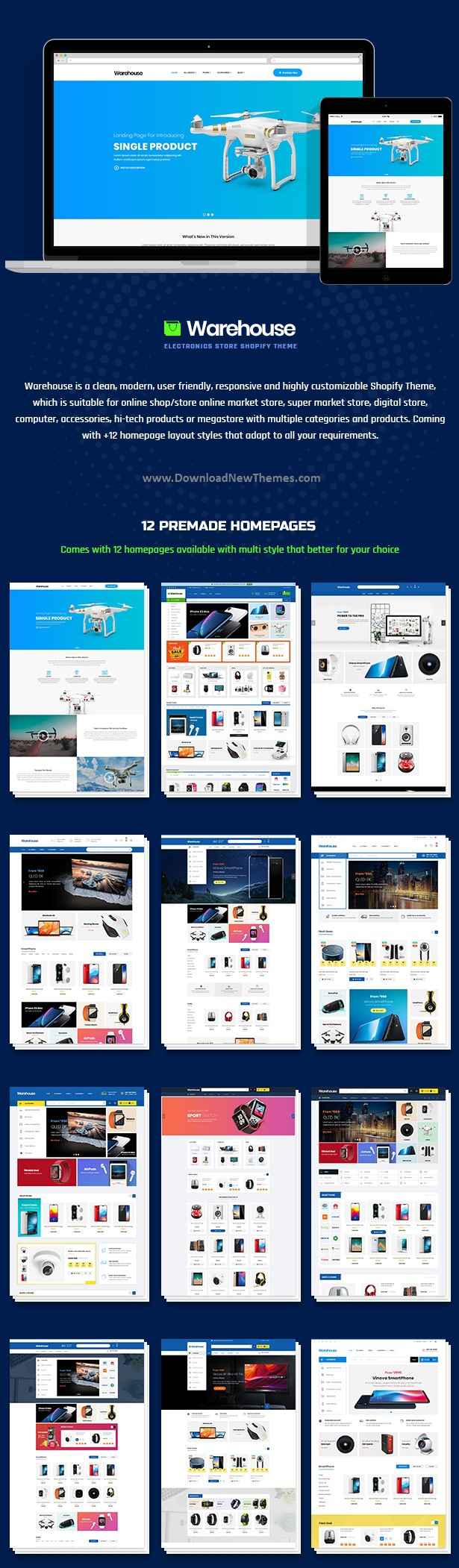 Electronics & Multipurpose Shopify Theme