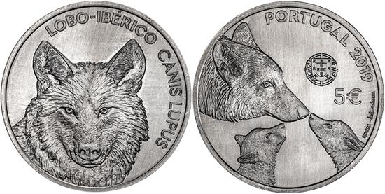 Portugal 5 euro 2019 Iberian Wolf