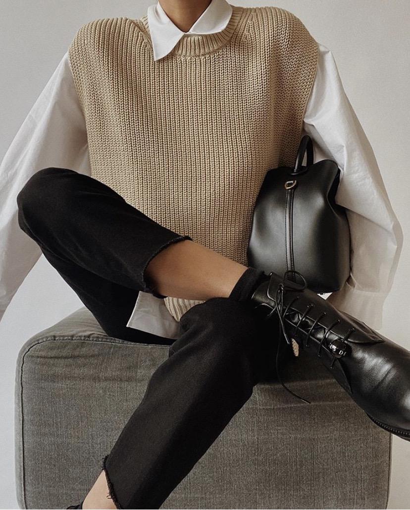Autumn Style File | Mini Trend: The Sweater Vest by Daniela Chelariu