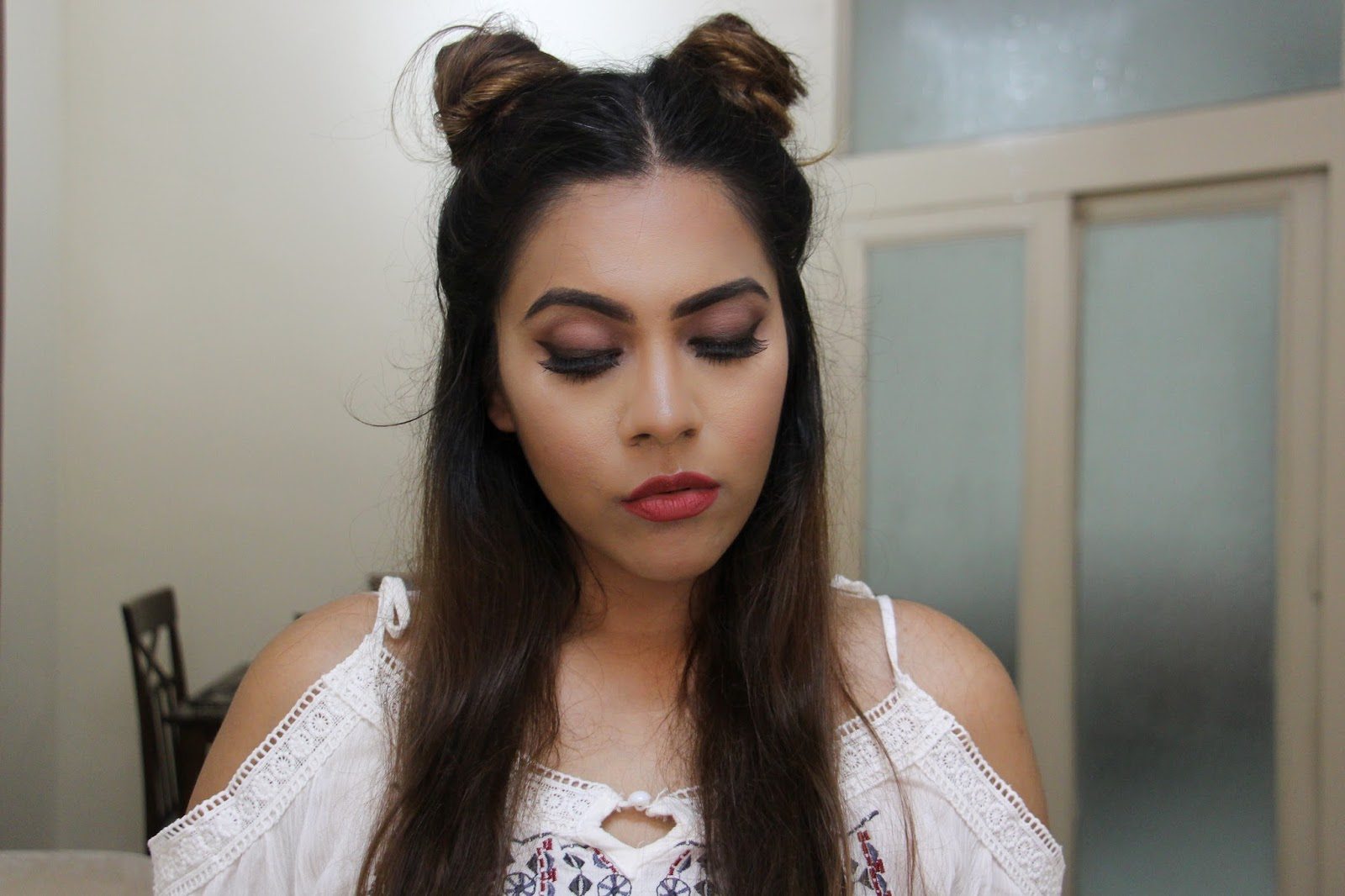 Twin Buns No Heat 2 Minute Hairstyle Indian Beauty Diary