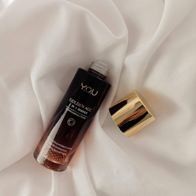 Y.O.U Golden Age 2 in 1 Essence Exfoliates & Hydrates Skin