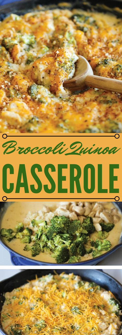BROCCOLI QUINOA CASSEROLE #vegetarian #quinoa #broccoli #casserole #breakfast