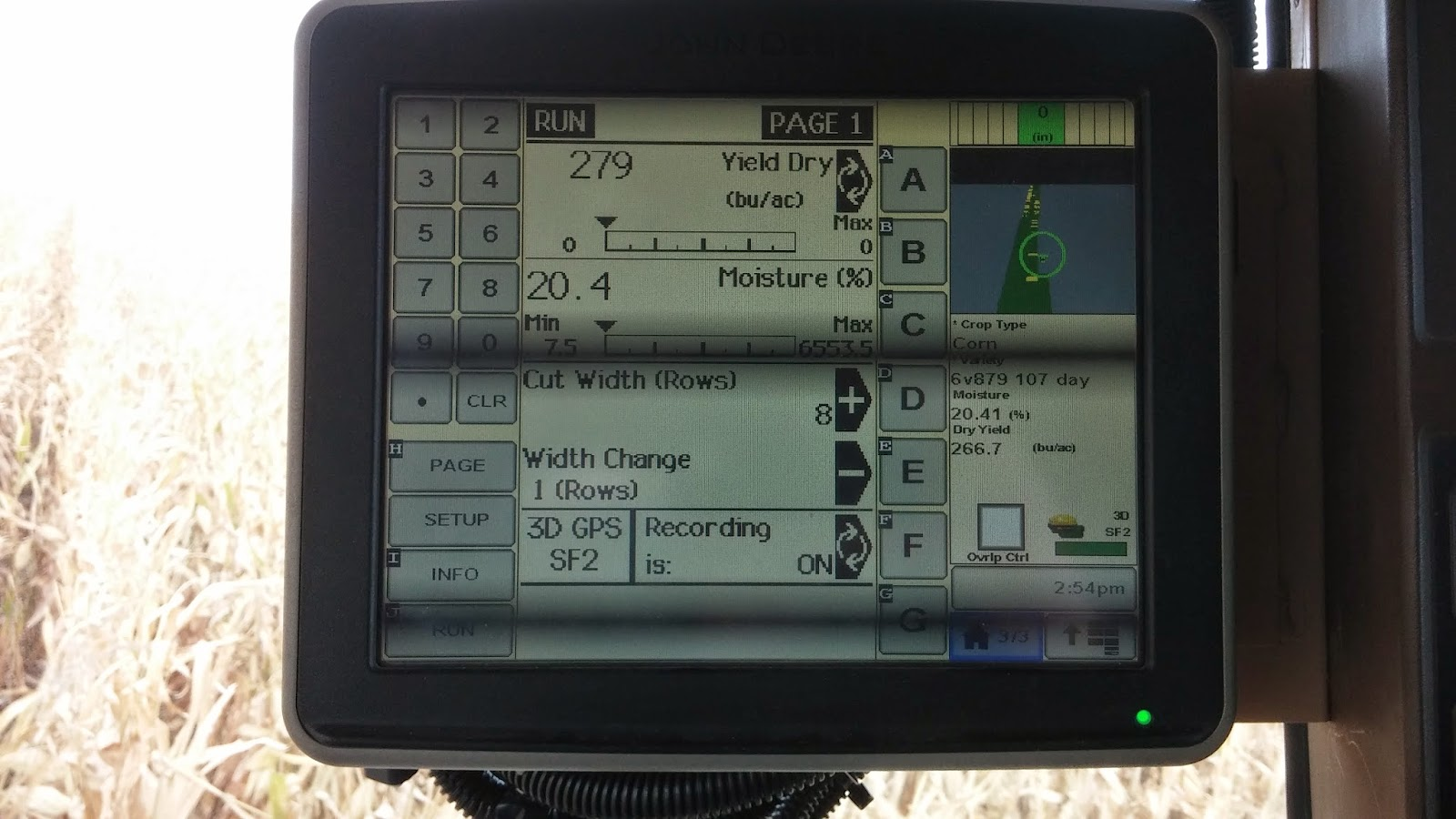 small resolution of we installed a 90 foot wiring harness a moisture sensor and a mass flow sensor which is a fancy way of saying yield sensor in our combine