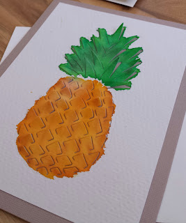 fresh crafts blog: watercolor pineapple