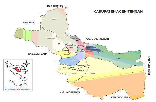 Daftar Nama Kecamatan Desa Kelurahan Di Kabupaten Aceh Tengah Harian9 Com