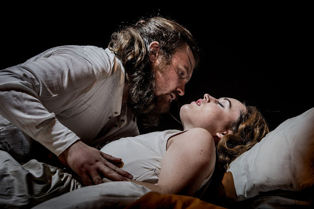 Britten: The Rape of Lucretia - Benjamin Lewis (Tarquinius), Bethan Langford (Lucretia) - Grimeborn Festival (Photo Robert Workman)