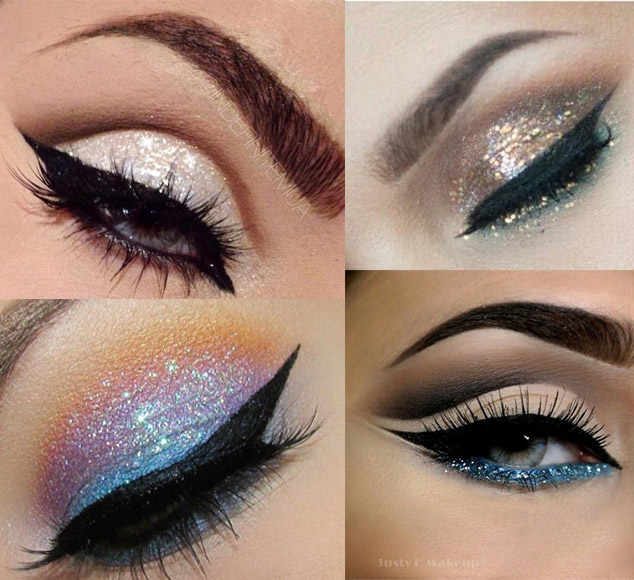 Resultado de imagem para maquiagem com glitter