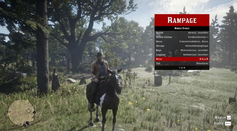 Red Dead Redemption 2: Cheat Mod (Rampage Trainer) [1.4.9]
