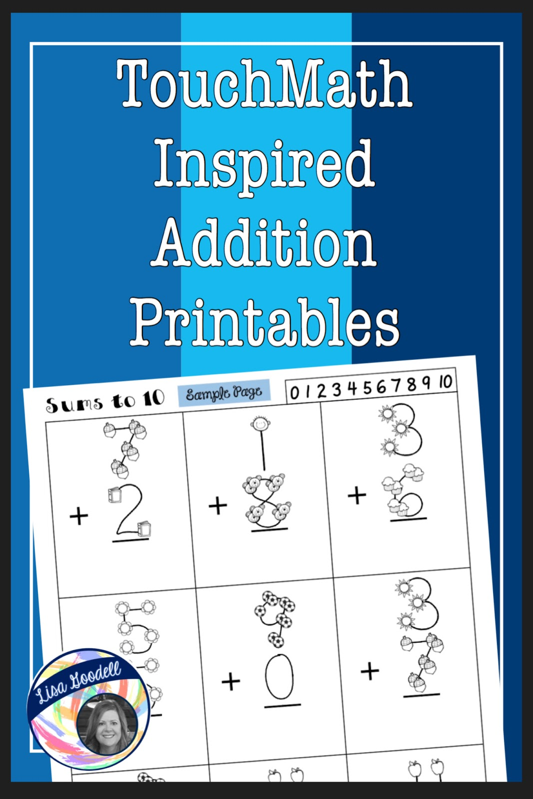 Lisa Goodell : TouchMath Inspired Printables - Supplement worksheets