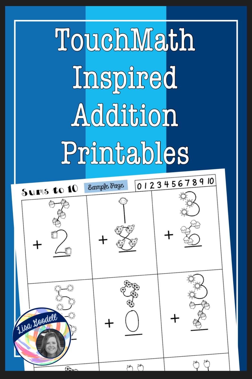 Lisa Goodell Touchmath Inspired Printables