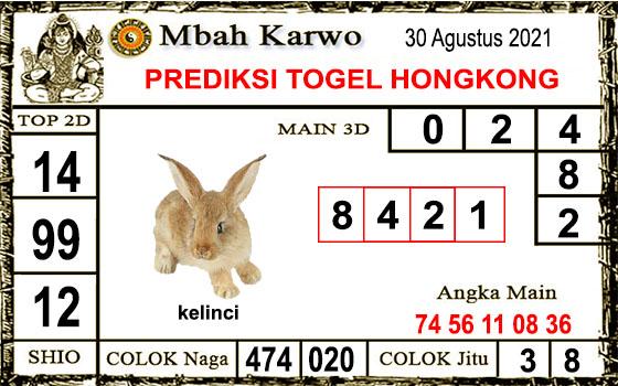 Prediksi Mbah Karwo Hk Senin 30 Agustus 2021