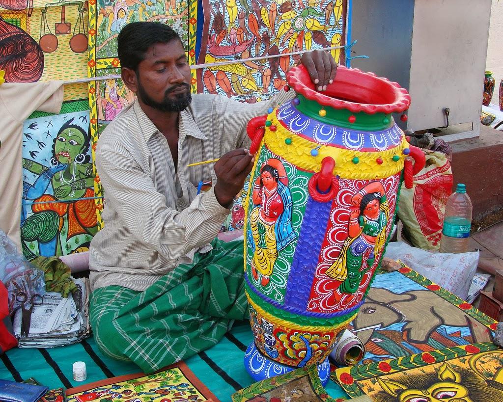 Creating ceramics, India
