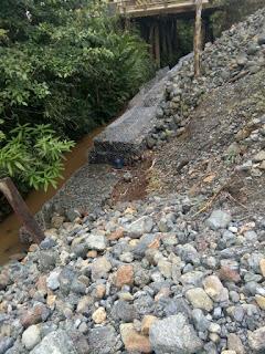 Proyek Bronjong Desa Loeha ,Lutim ,Diduga Salah Tempat