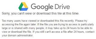 Cara Download Dari Google Drive Yang Limit