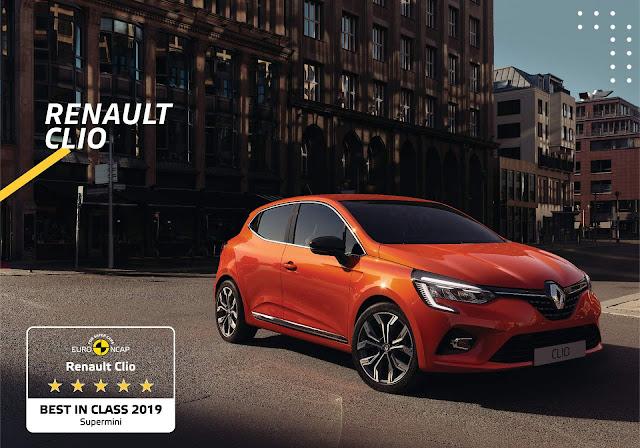 Novo Renault Clio 2020 obtém 5 estrelas no Euro NCAP