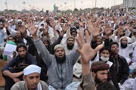 Protesters at Faizabad Interchange, Rawalpindi
