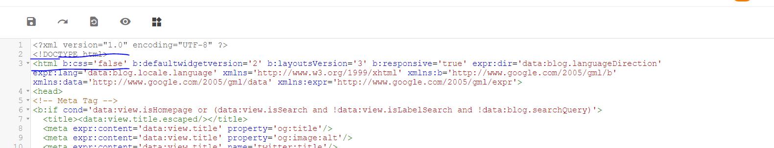 كود لتسريع قالب بلوجر  b:css='false' code