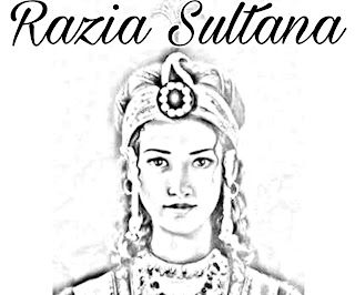 history of razia Sultana, Which ruled on dehli sultanat from 1236 to 1240 for four year.