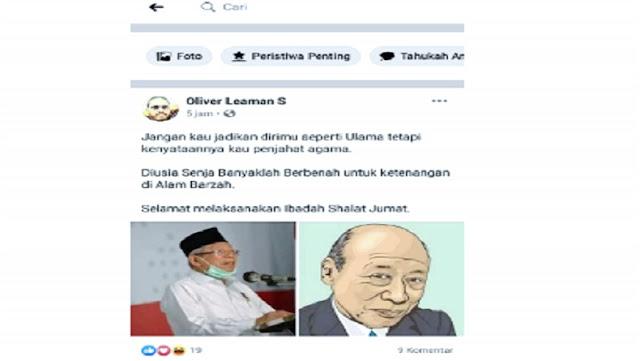 Sandingkan Ma'ruf Amin dengan Kakek Sugiono, GP Ansor Lapor ke Polisi