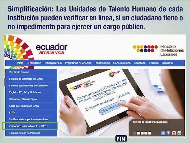 certificado ministerio relaciones laborales