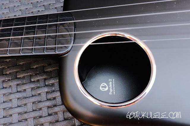 Populele 2 Concert Ukulele sound hole