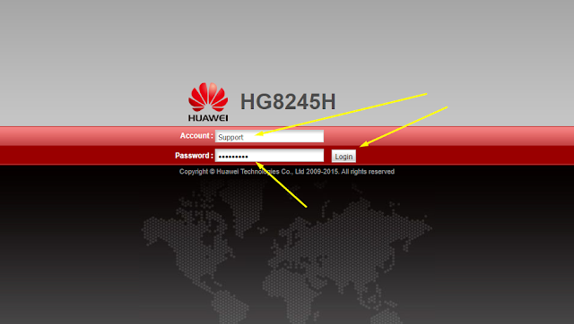 Password Modem Huawei HG8245H Indihome Terbaru