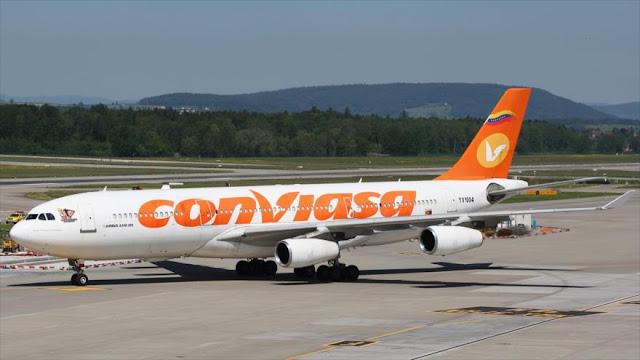 EEUU impone sanciones a la aerolínea venezolana Conviasa