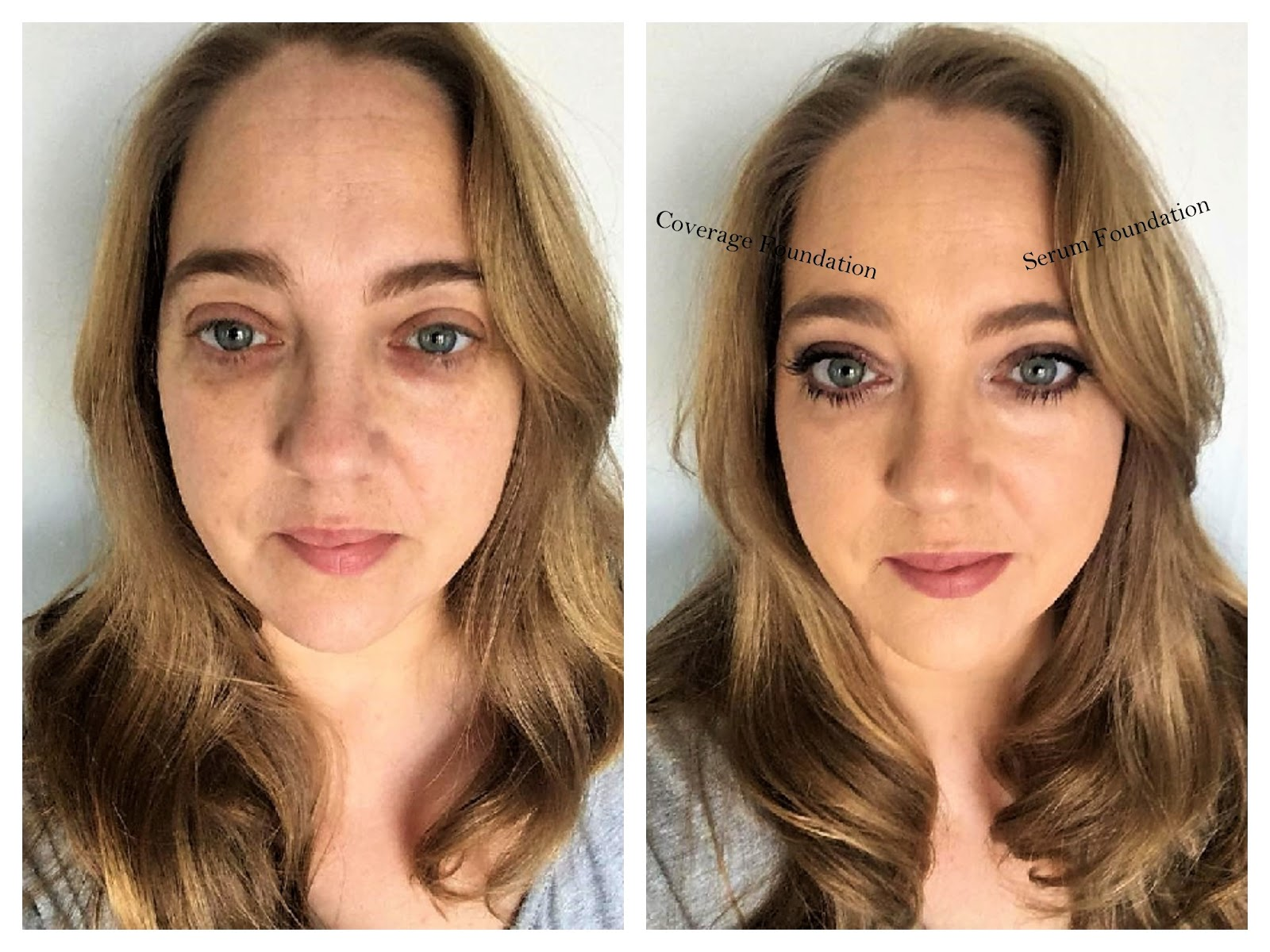 Before and after The Ordinary Foundation