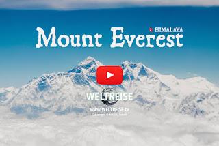 WELTREISE Flug von Nepal über den Mount Everest nach Thailand Bangkok