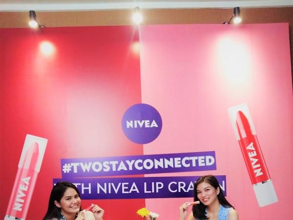 Launching Nivea Lip Crayon #TwoStayConnected