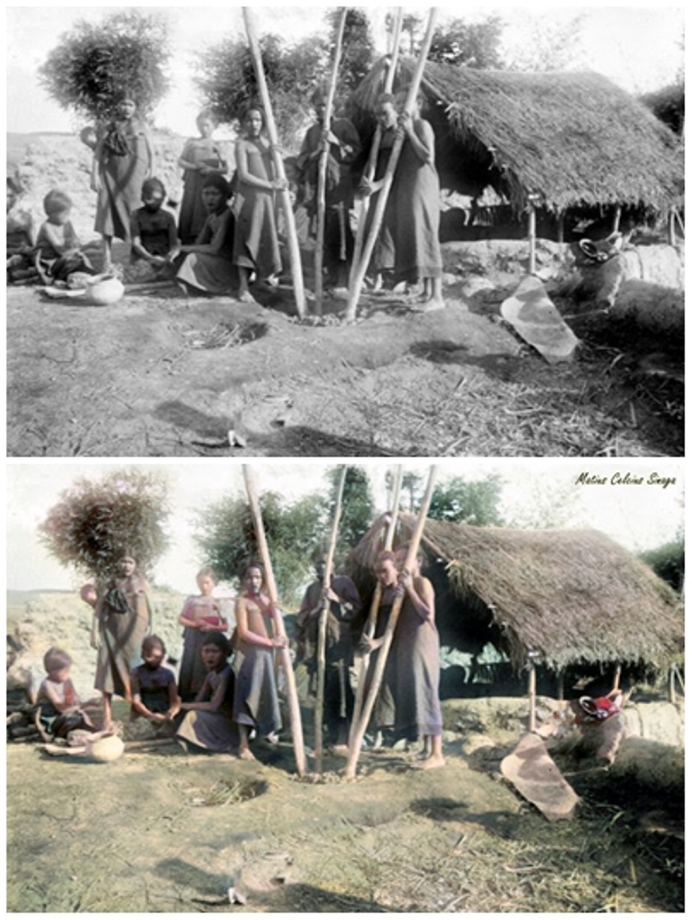 contoh mewarnai foto hitam putih
