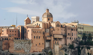 The dome of the Cathedral towers over Cagliari's medieval Castello quarter