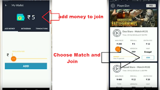 use playerzone app to play PUBG Mobile tournaments and earn paytm money