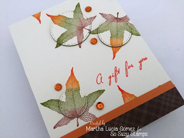 MAPLE LINE LEAF - Stampartpapel