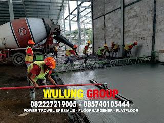 Jasa trowel lantai beton floor hardener pengecoran gudang