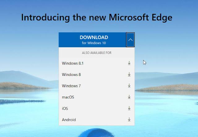 تحميل متصفح مايكروسوفت ايدج الجديد