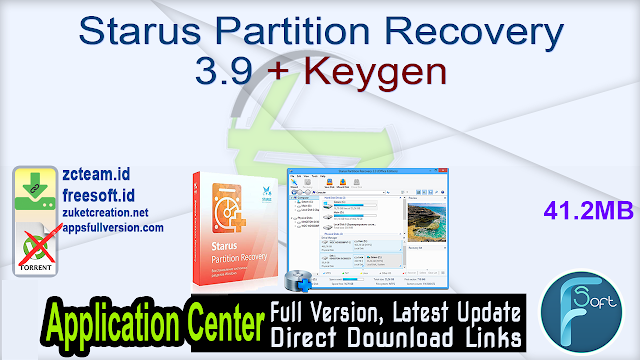 Starus Partition Recovery 3.9 + Keygen_ ZcTeam.id