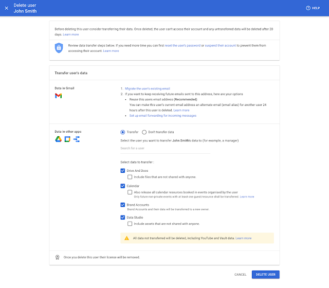 New streamlined experience for managing users and domains in the Admin console 4