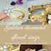 Gold and diamond floral rings