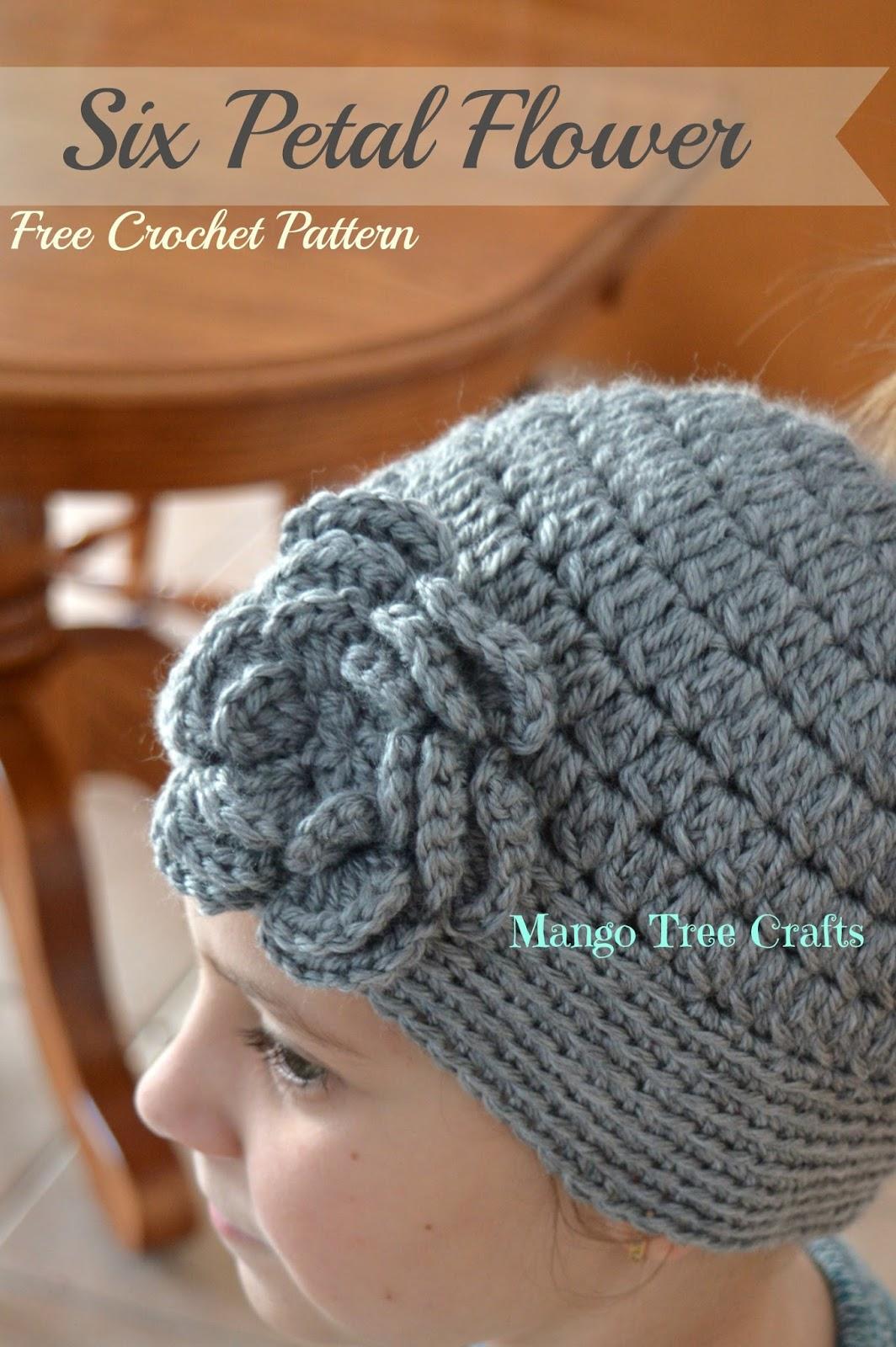 Six Petal Flower Free Crochet Pattern and Photo Tutorial