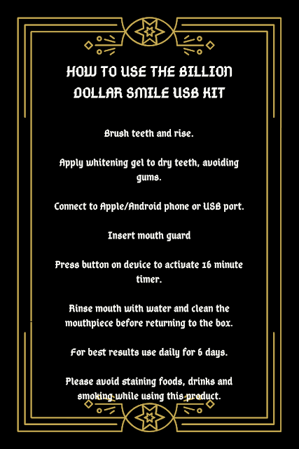 THE ULTIMATE USB TEETH WHITENING KIT - BILLION DOLLAR SMILE how to
