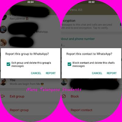 Whatsapp new feature : Report to Whatsapp