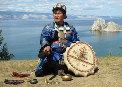 """A modern day shaman. """"Valentin Hagdaev - head shaman of Olkhon. Lake Baikal. Buryatia. Siberia"""""""