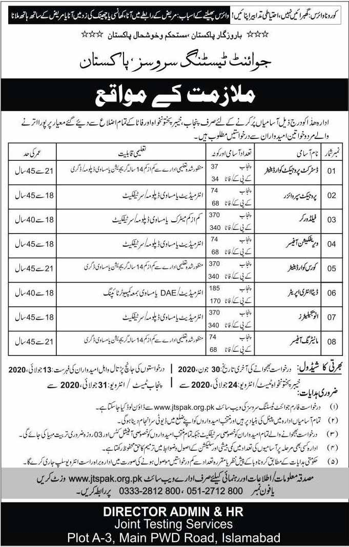 Latest Jobs in Testing Services Pakistan 2020